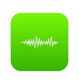 music sound waves icon digital green vector image vector image