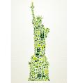 New York go green concept vector image vector image