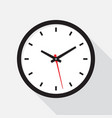 office clock with shadow on a white background vector image vector image