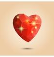 Origami polygonal heart vector image vector image