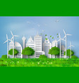 paper cut of eco concept vector image vector image