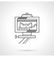 Pets selfie line icon vector image