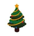 Pine tree icon Merry Christmas design vector image vector image