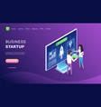researching workers business startup vector image vector image