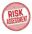 Risk assessment grunge rubber stamp