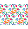 scandinavian heart seamless pattern vector image