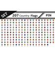 Set 207 country flag pin