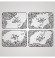 set four floral decorative frames vector image