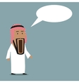 Shocked arab businessman with wide open mouth vector image