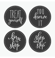 Shopping retail sticker lettering set vector image vector image