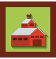 stable farm building isolated icon vector image