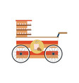 street food vendor bicycle icon isolated on a vector image vector image