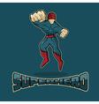 Superhero in Action design template vector image