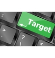 target button on computer keyboard business vector image vector image