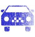 taxi car textured icon vector image