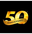 Template Logo 50th Anniversary vector image vector image