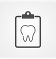 tooth icon sign symbol vector image
