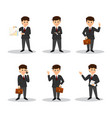 set character businessman vector image