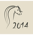 year of horse 2014 background vector image