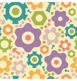 Gogwheals and gears seamless pattern background vector image