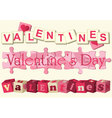 Valentine love games vector image