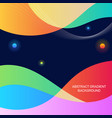 abstract colorful gradient geometric shape vector image vector image