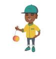 african-american boy playing with yo-yo vector image