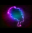 afro retro girl neon sign african woman in turban vector image vector image