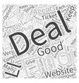 Airline Ticket Deals Word Cloud Concept vector image vector image