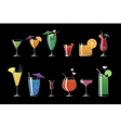 alcohol drinks and beach cocktails isolated vector image