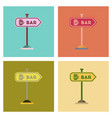 assembly flat icons sign of bar vector image vector image