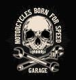 badge bike biker chopper classic club vector image vector image