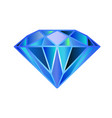 blue diamond symbol logo vector image