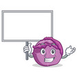 bring board red cabbage character cartoon vector image vector image