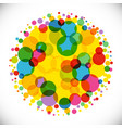 bubble ball colorful bg vector image