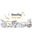 business creative development branding concept vector image