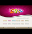 Calendar 2013 new year design vector | Price: 1 Credit (USD $1)