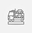 car transporter icon vector image vector image
