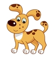 Cartoon smiling light ginger spotty puppy cute vector image