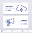 cloud storage and megaphone symbols vector image