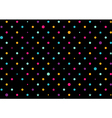 Colorful Dots Black Background vector image vector image