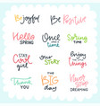 cute lettering collection vector image
