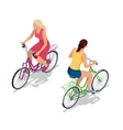 Cyclists on bikes People riding bikes Bikers and vector image vector image