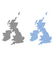 dot great britain and ireland map abstractions vector image vector image