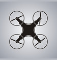 drone icon black logo element top view vector image