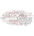 Ego word cloud concept