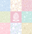 eight versions easter pattern vector image vector image