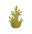 flat icon of green marine coral with texture vector image