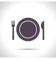 Fork plate knife vector image