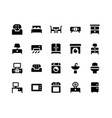 furniture glyph icons vector image vector image